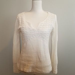 Lilly Pulitzer white crochet sweater